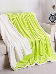 Коралловый флисСплошная Сплошная 50% шерсть/50% акрил одеяла