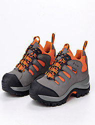 Men's Athletic Shoes Spring Summer Comfort Leather Tulle Outdoor Athletic Low Heel Lace-up Dark Grey Orange Hiking