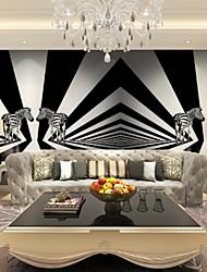 JAMMORY 3D Fashion Wallpaper Personality Seamless Wall Covering Simple Modern Fresco Stereo Zebra Background Wall XL XXL XXXL
