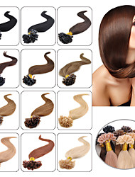 0.5g/s 40g-50g 100s Human Remy Hair Straight Keratin U-Tip or Flat-tip Human Hair Extensions As Pictures Color 16Inch-24Inch
