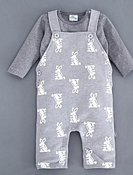 Baby Casual/Daily Animal Print One-Pieces,Cotton Spring Fall Long Sleeve