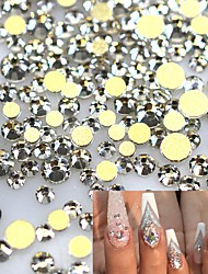 1440pcs SS3-16 New Gold Non Hotfix Clear Crystal Rhinestones for 3d Nail Art Decorations Flatback Glass Stones DIY Glitter