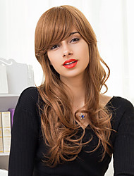 Charming Long Layered Capless Wigs Natural Wavy Ombre Blends Human Hair