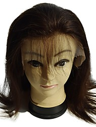 peruca cheia do laço do cabelo humano virgem 8inch reta de boa qualidade para as mulheres