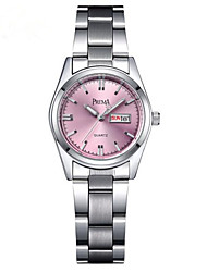 Women's Fashion Watch Quartz Stainless Steel Band Casual Silver Brand