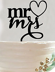 English letters acrylic wedding cake inserted card/elegant cake decoration