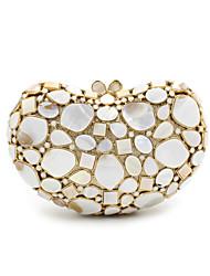 Women Metal Formal Event/Party Wedding Evening Bag Diamonds Clutch HandbagPurse/Shell Ornaments Black Gold Silver