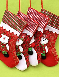 Stockings Gifts Holiday Textile Christmas Decoration