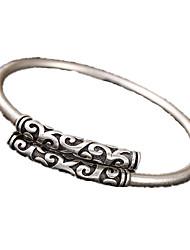 Homens Feminino Bracelete Prata de Lei Personalizado Prateado Jóias 1peça