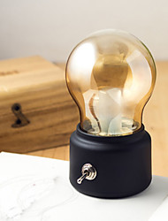 Creative Retro USB Night Light Rechargeable Bulb Lamp Atmosphere Light Bedroom Bedside Lighting Warm