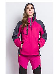 Mulheres Jaqueta de Trilha Prova-de-Água Térmico/Quente A Prova de Vento Forro de Velocino Moletom para Esqui Acampar e Caminhar Esportes