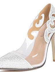 Damen-High Heels-Outddor Kleid Party & Festivität-PVC-Stöckelabsatz-Komfort Neuheit-Weiß