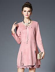 Women's Plus Size Vintage legance Fashiion Lace Patchwork Deer Velvet Dress