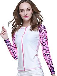 Mulheres 1mm Mergulho Skins Jacket wetsuit Impermeável Resistente Raios Ultravioleta Confortável Filtro SolarElastano Náilon Chinês