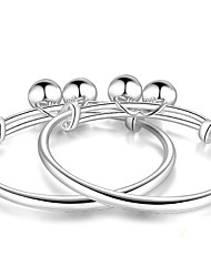 Bracelet Bangles Sterling Silver Others Natural Birthday Gift Jewelry Gift Silver,1 pair