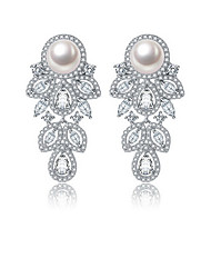 Drop Earrings Jewelry Women Party Daily Casual Zircon 1 pair As Per Picture