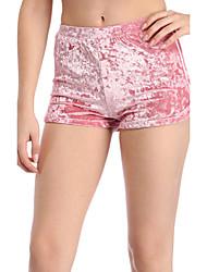 Femme Mince Short Pantalon,Street Chic simple Soirée Décontracté / Quotidien Couleur Pleine Taille Normale Elasticité Polyester