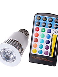5 Watt E27 RGB 16 Color Options and Memory Feature LED Magic Spotlight Bulb with 28 Key IR Remote Control 4 Mode Flashlight Lamp