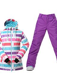 Sport Skikleidung Ski/Snowboard Jacken Damen Winterkleidung Polyester Kleidung für den WinterWasserdicht Atmungsaktiv warm halten
