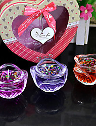 1 Box 3pcs Rose Candle Jelly Candles Colorful Festival Decorative Candle set Children Gift Home Decoration Dinner Candle Color by Random