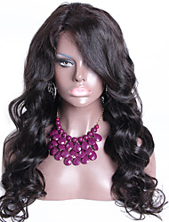 Unprocessed Brazilian Virgin Full Lace Wigs Natural Color With 130% Density Lace Wigs Human Hair Glueless Wigs
