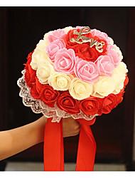1 Ramo Polistirolo Rose Fiori Artificiali 20*20*30