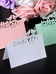 40pcs/lots Love Birds Laser Cut Wedding Favors Party Supplies Table Name Place Cards Table Wedding Cards