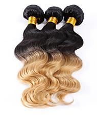 Menschenhaar spinnt Brasilianisches Haar Große Wellen 3 Stück Haar webt