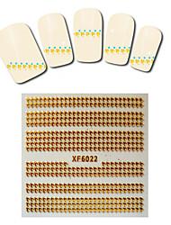 1sheet  Gold Nail Stickers XF6022