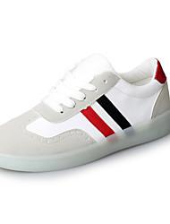 Damen Sneaker Leuchtende LED-Schuhe Stiefeletten Kunstleder Frühling Herbst Sportlich Normal Walking Schnürsenkel Creepers Schwarz Grau