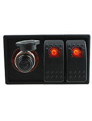 DC 12V/24V LED Digital voltmeter Socket with rocker switch jumper wires and housing holder