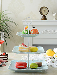 European Afternoon Tea. Multilayer Fruit. Disc Pastry all The Plate Ceramic Three Layers of Dried Fruit Cake Plate Tray