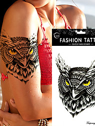 5Pc Waterproof Temporary Tattoo Sticker  Owl Tattoos Big Water Transfer Fake Ink Black  Tattoo For Girl Women Men