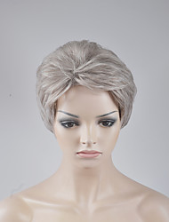 Europe and the United States new short paragraph fluffy silver gray BOBO head high temperature wire wig