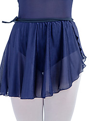 Ballet Tutus & Skirts Women's Children's Performance Cotton Lycra Mesh Ruffles 1 Piece Natural Skirt