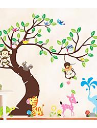 Животные Мода Отдых Наклейки Простые наклейки Декоративные наклейки на стены,Бумага материал Украшение дома Наклейка на стену