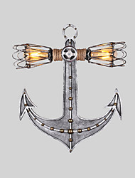 Vintage Industrial Wall Lights Wood Boat Anchor Shape Creative Restaurant Cafe Bar Decoration lighting
