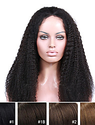 10A Premierwigs 8''-28'' Kinky Curly Brazilian Virgin Full Lace Human Hair Wigs Natural Color Soft Lace Front Wigs