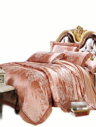 Yuxin®Tencel Modal Jacquard Hollow Four Sets Wdding Packages   Bedding Set