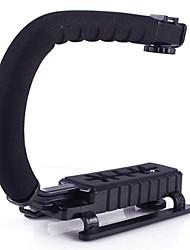 Mini forma de U soporte de soporte de flash de la cámara réflex digital cámara de vídeo digital linterna vídeo de acción estabilizadora