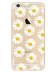 Para iPhone 8 iPhone 8 Plus iPhone 7 iPhone 7 Plus iPhone 6 Carcasa Funda Ultrafina Diseños Cubierta Trasera Funda Flor Suave TPU para