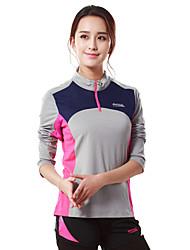 MAKINO® Femme Manches longues Course / Running Tee-shirt Respirable Printemps Automne Vêtements de sportCamping / Randonnée Chasse Pêche