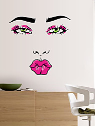 Abstract Red Lip Woman Wall Stickers Personality Fashion Living Room Wall Decals