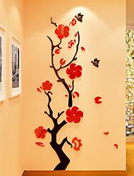 Botanique Stickers muraux Autocollants muraux 3D Autocollants muraux décoratifs,Vinyle Matériel Décoration d'intérieur Calque Mural