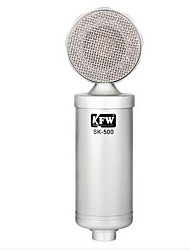 KFW Wired Karaoke Microphone 3.5mm Silver