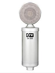 KFW Проводной Микрофон для караоке 3,5 мм Серебро