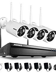 ANNKE 4CH CCTV System Wireless 960P NVR 4PCS 1.3MP IR Outdoor P2P Wifi IP CCTV Camera System Surveillance Kit