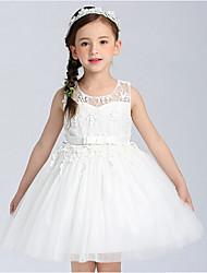 Girl's Beach Patchwork Dress,Cotton Rayon Summer Short Sleeve