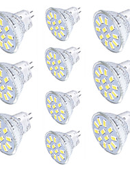 YouOKLight 10pcs MR11 3W Warm White/Cold White 250lm 12-SMD5733 LED Spotlight AC/DC 10-30v