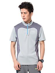 MAKINO® Homme Manches courtes Course / Running Tee-shirt Hauts/Tops Respirable Limite les Bactéries Eté Vêtements de sportCamping /